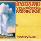 Wyoming Folder Geyserland Yellowstone National Park 20 Views 1920s Tammen Denver