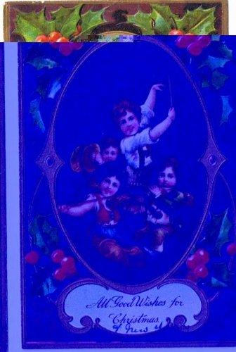 ANTIQUE RPO Christmas Postcard Children Musicians Holly Monett Ellsworth 1909