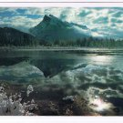 Alberta Laminated Postcard RPPC Mount Rundle From Vermilion Lakes