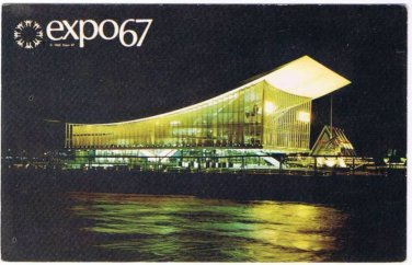 Montreal Canada Expo 67 Postcard Soviet Union Pavilion Russia