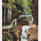 Watkins Glen New York Postcard Flying Stairway Rainbow Fal Curteich A-91749 1922