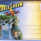 New York Souvenir Folder Ausable Chasm 18 Views 1941 D6749 Curt Teich