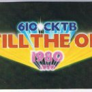 VINTAGE 610 CKTB Radio Still The One Advertising Card St Catherines Ontario