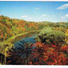 Ontario Laminated Postcard RPPC Grand River Between Kitchener Cambridge
