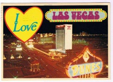 Las Vegas Nevada Postcard I Love Las Vegas Dunes