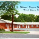 Mount Vernon Motel Ohio Postcard