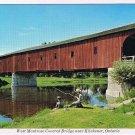 Ontario Laminated Postcard RPPC West Montrose Covered Bridge Near Kitchener