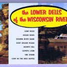 Wisconsin Postcard Booklet RPPC Wisconsin River Lower Dells 20 Cards