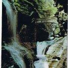 New York Postcard Watkins Glen State Park Rainbow Falls