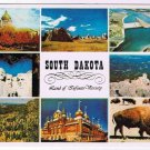 South Dakota Postcard Multi View Badlands Rushmore Capital Randall Dam