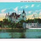 Thousand Islands New York Postcard Boldt Castle Heart Island Curteich 73688-N