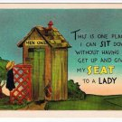 Comic Postcard One Place I Can Sit And Not Give My Seat To A Lady Outhouse