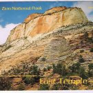 Utah Postcard Zion National Park East Temple