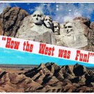 South Dakota Postcard Mount Rushmore Badlands National Park How The West Was Fun