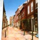 VINTAGE Elfreth's Alley Postcard Philadelphia Mike Roberts