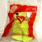 McDonalds 2004 TY Beanie Baby Fries Bear # 11 Original Package NEW