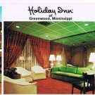Greenwood Mississippi Postcard Holiday Inn Plantation Lounge MultiView Long Card
