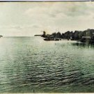 VINTAGE Orillia Ontario Postcard The Narrows Near Orillia Odd Size 2 5/8 x 6