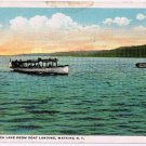 Watkins Glen New York Postcard Seneca Lake Boat Landing Curteich A-79397 1919
