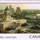 Manitoba Laminated Postcard RPPC Winnipeg Legislative Building