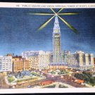 VINTAGE Union Terminal Tower Cleveland Postcard (1934)