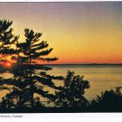 Ontario Laminated Postcard RPPC Parry Sound Sunset on Georgian Bay