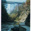 New York Postcard New York Central Railroad Bridge & Jacob's Ladder Watkins Glen