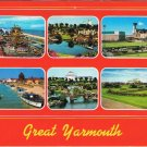 England Postcard Great Yarmouth Multi View Bottons Funfair Anchor Gardens Model