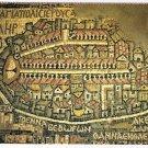 Israel Postcard Madaba Old Map of Palestine