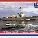 Enduring Freedom Picture Card #62 USS Winston Churchill Topps 2001