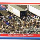 Enduring Freedom Picture Card #8 9-11 Volunteers Giants Stadium Topps 2001