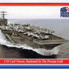 Enduring Freedom Picture Card #64 USS Carl Vinson Persian Gulf Topps 2001