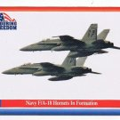 Enduring Freedom Picture Card #80 FA-18 Hornets In Formation  Topps 2001
