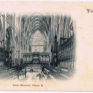 England Postcard York Minster Choir E