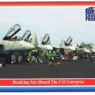 Enduring Freedom Picture Card #78 9-11 Readying Jets USS Enterprise Topps 2001