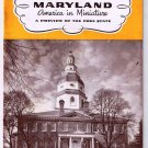 Vintage Travel Brochure 1950s Maryland America In Miniature