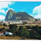 Gibralter Postcard La Linea de la Concepcion Partial View and Rock