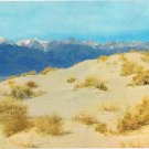 California Postcard Sand Dunes and Snow Capped Mountains