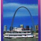 Missouri Postcard St Louis Gateway Arch Paddlewheel Steamboat