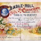 Cradle Roll Certificate 1936 Ailsa Craig Ontario UC Canada Goodenough & Woglom