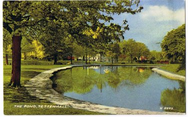 England Postcard Tettenhall The Pond