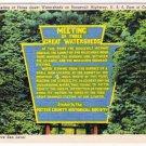 Pennsylvania Postcard Meeting of Three Great Watersheds Roosevelt Hwy