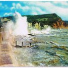 England Postcard Rough Seas At Sidmouth