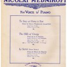 The Hills Of Gruzia Sheet Music Nicolai Mednikoff