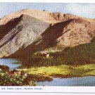 England Postcard North Wales Snowdon and Twin Lakes
