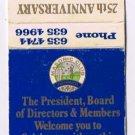 Matchbook Cover Australia Parramatta Masonic Club 25th Anniversary 1949-74