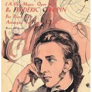 Theme From Polonaise Sheet Music Frederic Chopin Arr Henry Levine