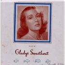 Through The Years Sheet Music Heyman Youmans Sung by Gladys Swarthout