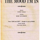 The Mood I'm In Sheet Music Doris Veale Babs Hitchman