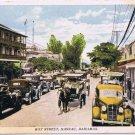 Bahamas Caribbean Islands Postcard J O Sands Bay Street Nassau Old Cars